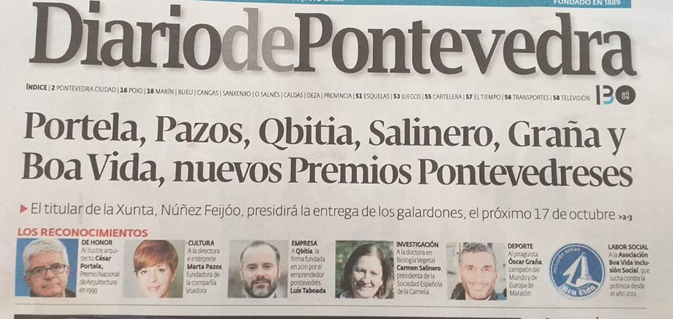 Premio Diario de Pontevedra a labor social a Asociación Boa Vida