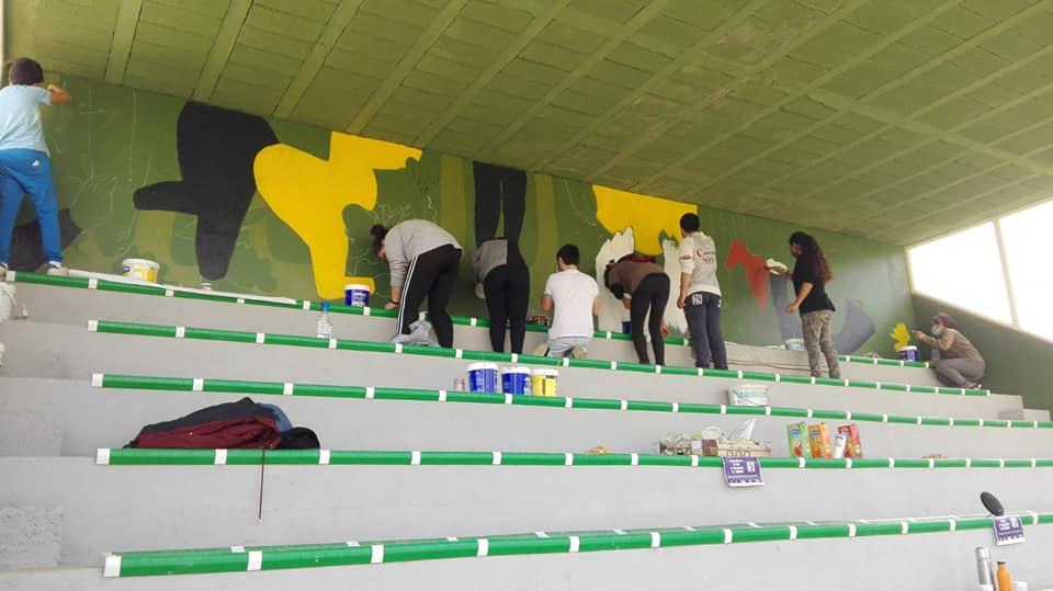 Compartimos Lecer participa nas bancadas do campo de futbol de Pontedeva